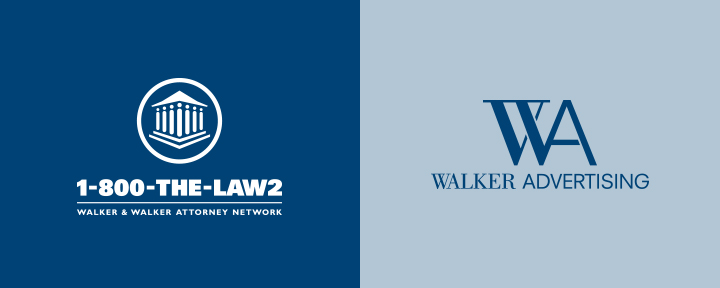 Walker Advertising and 1-800-THE-LAW2 Logos by MVC Agency - Los Angeles