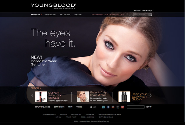 Los Angeles Web Design Agency MVC creates website for Youngblood